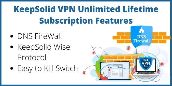 KeepSolid VPN Unlimited Lifetime Subscription Features