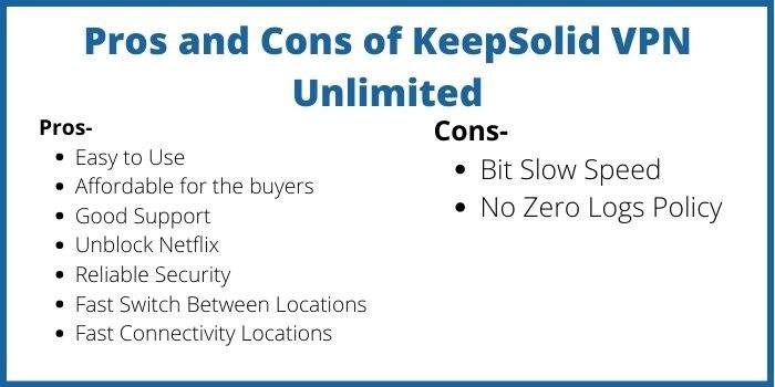 KeepSolid VPN Unlimited Pros And Cons