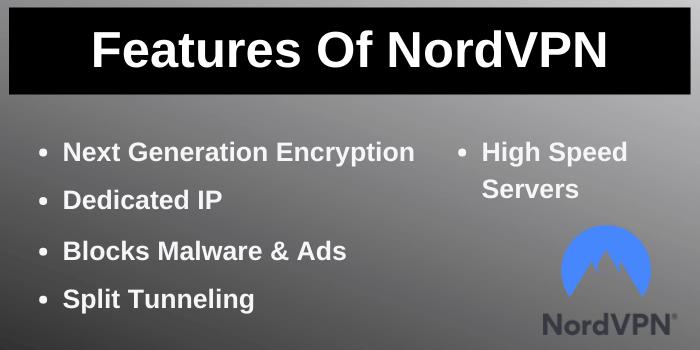 Features of NordVPN