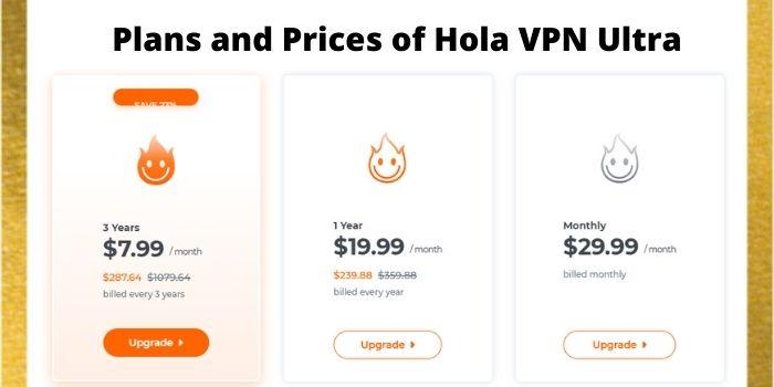 Hola VPN Ultra Prices
