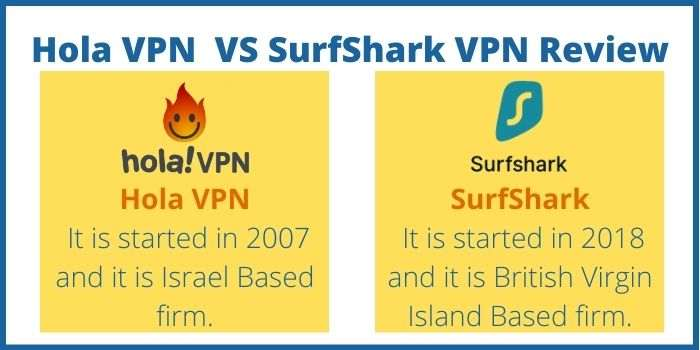 Hola VPN VS SurfShark Review