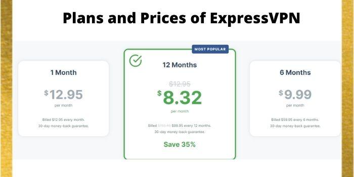 Prices of ExpressVPN