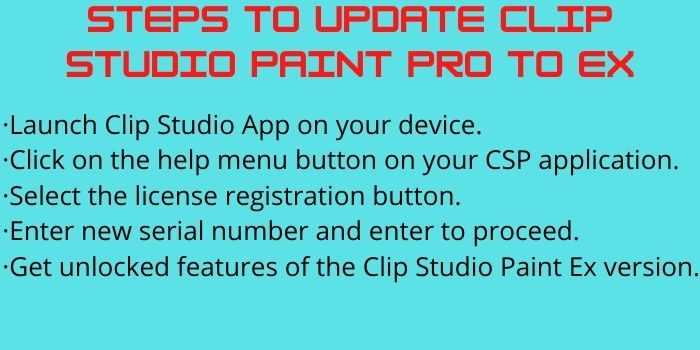 Steps to Update Clip Studio Paint Pro to ex