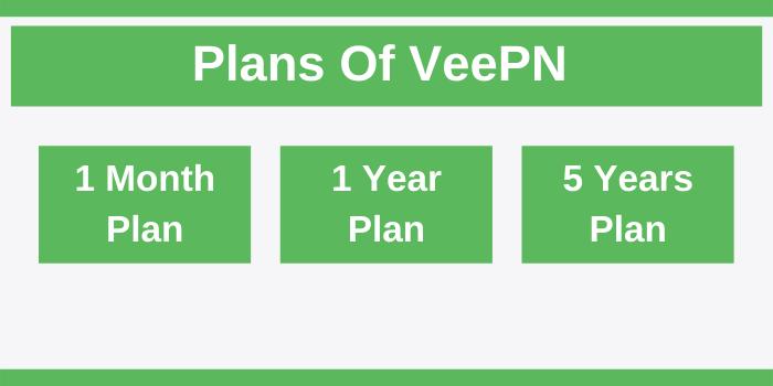 VeePN Service Plans