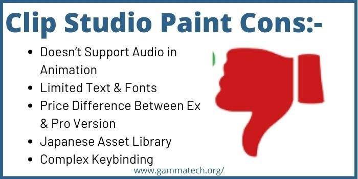Disadvantages Of Clip Studio Paint