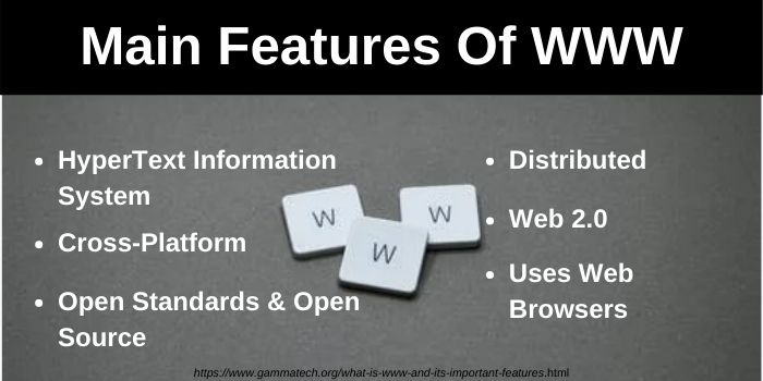 Features of World Wide Web (WWW)