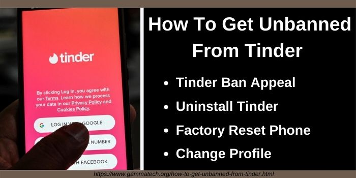 How To Get Unbanned From Tinder