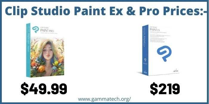 Prices of Clip Studio Paint