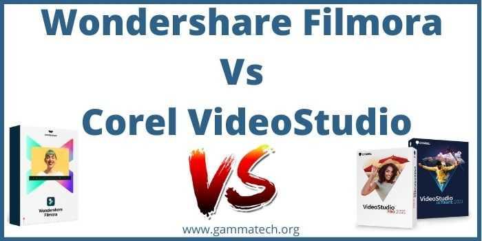 Wondershare Filmora Vs Corel Videostudio