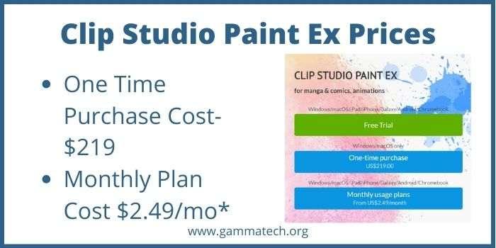 Clip Studio Paint Ex Cost