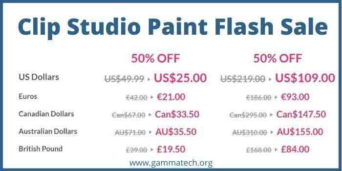 Clip Studio Paint Flash Sale