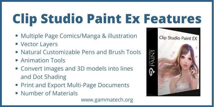 Common Features Of Clip Studio Paint Ex