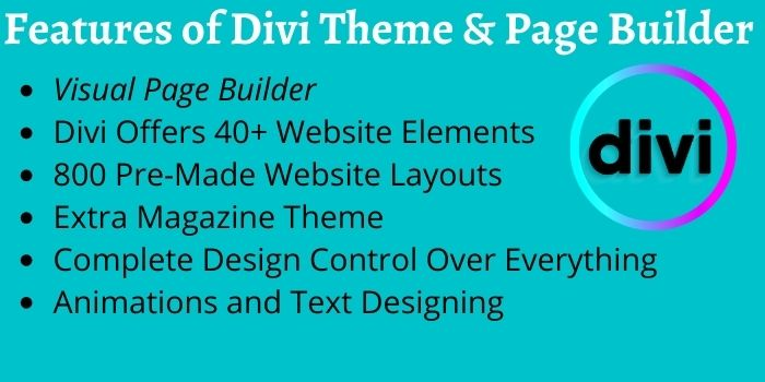 Features of Divi Theme & Page Builder