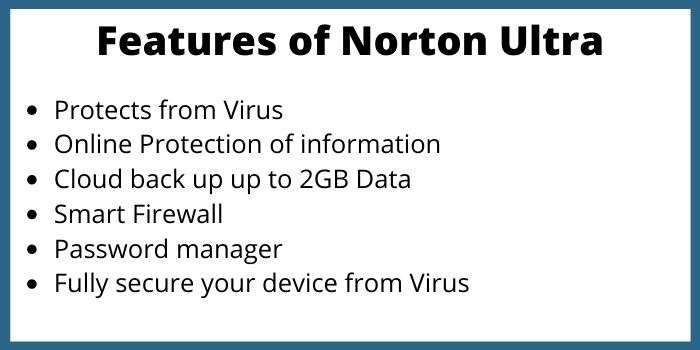 Features of Norton Ultra