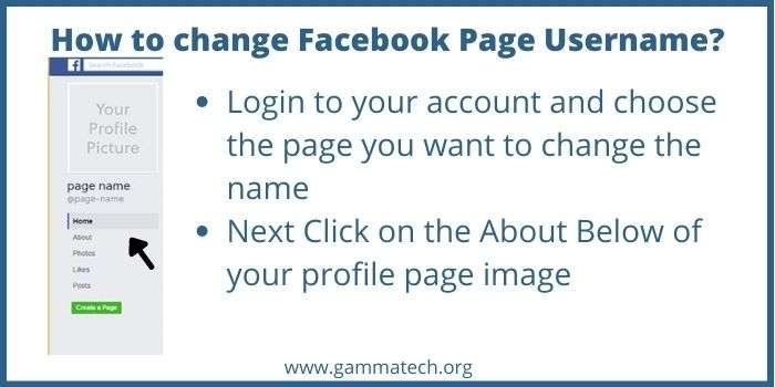 How To Change Facebook Page Username