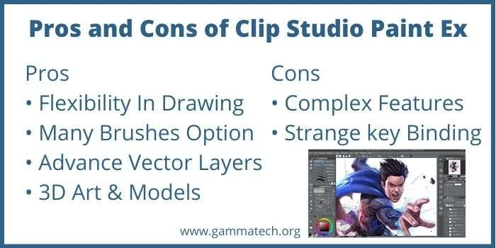 Pros and Cons of Clip Studio Paint Ex