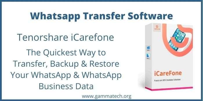 Tenorshare iCarefone Whatsapp Transfer Coupons