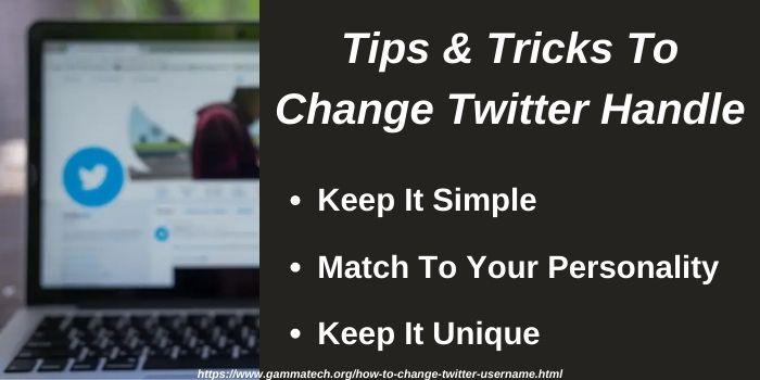 Tips & Tricks for Twitter Username