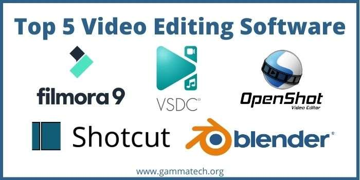 Top 5 Video Editing Software for PC